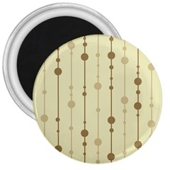 Brown Pattern 3  Magnets by Valentinaart