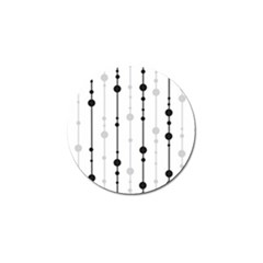 Black And White Elegant Pattern Golf Ball Marker (4 Pack) by Valentinaart