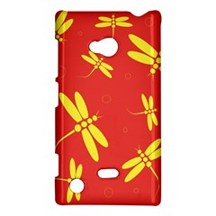 Red And Yellow Dragonflies Pattern Nokia Lumia 720 by Valentinaart