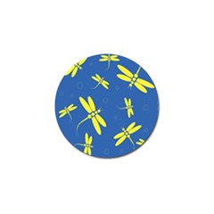 Blue And Yellow Dragonflies Pattern Golf Ball Marker (10 Pack) by Valentinaart