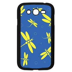 Blue And Yellow Dragonflies Pattern Samsung Galaxy Grand Duos I9082 Case (black) by Valentinaart