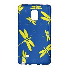 Blue and yellow dragonflies pattern Galaxy Note Edge