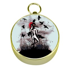 Dancing With Crows Gold Compasses by lvbart