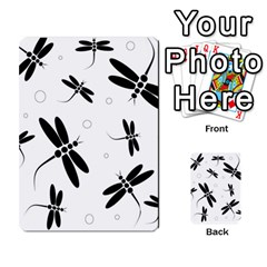 Black And White Dragonflies Multi Purpose Cards (rectangle)  by Valentinaart