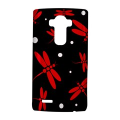 Red, black and white dragonflies LG G4 Hardshell Case by Valentinaart