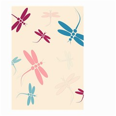 Pastel Dragonflies  Small Garden Flag (two Sides) by Valentinaart