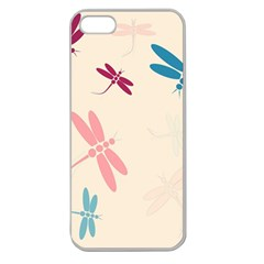 Pastel Dragonflies  Apple Seamless Iphone 5 Case (clear) by Valentinaart