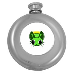 Transparent Firefly Round Hip Flask (5 Oz) by Valentinaart