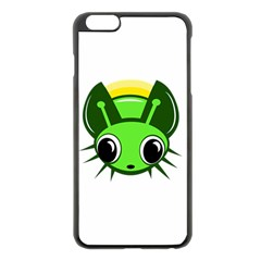 Transparent Firefly Apple Iphone 6 Plus/6s Plus Black Enamel Case by Valentinaart