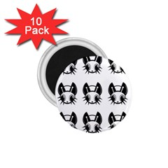 Black and white fireflies patten 1.75  Magnets (10 pack)  by Valentinaart