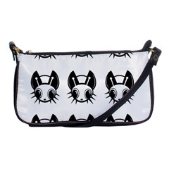 Black And White Fireflies Patten Shoulder Clutch Bags by Valentinaart