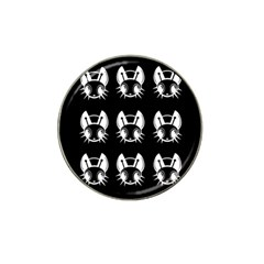 White And Black Fireflies  Hat Clip Ball Marker (4 Pack) by Valentinaart