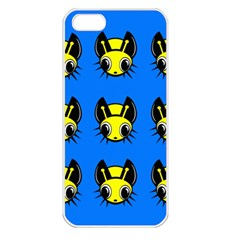 Yellow And Blue Firefies Apple Iphone 5 Seamless Case (white) by Valentinaart