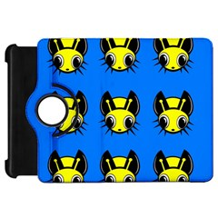 Yellow and blue firefies Kindle Fire HD Flip 360 Case by Valentinaart