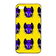 Blue And Yellow Fireflies Apple Iphone 4/4s Seamless Case (black) by Valentinaart