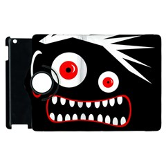 Crazy Monster Apple Ipad 3/4 Flip 360 Case by Valentinaart