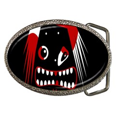 Zombie face Belt Buckles by Valentinaart