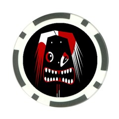 Zombie face Poker Chip Card Guards (10 pack)  by Valentinaart