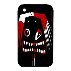 Zombie face Apple iPhone 3G/3GS Hardshell Case (PC+Silicone) by Valentinaart