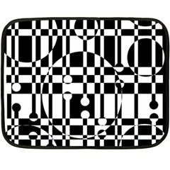 Black And White Pattern Fleece Blanket (mini) by Valentinaart