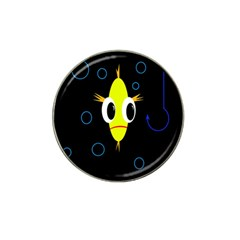 Yellow Fish Hat Clip Ball Marker by Valentinaart