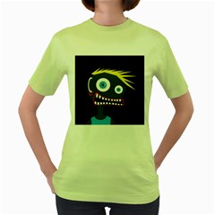 Crazy man Women s Green T-Shirt by Valentinaart