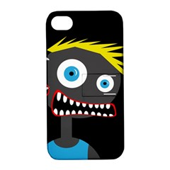 Crazy Man Apple Iphone 4/4s Hardshell Case With Stand by Valentinaart
