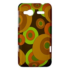 Brown pattern HTC Radar Hardshell Case  by Valentinaart