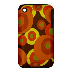 Orange Pattern Apple Iphone 3g/3gs Hardshell Case (pc+silicone) by Valentinaart