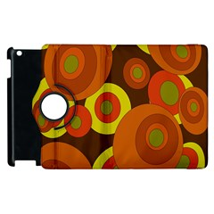 Orange pattern Apple iPad 3/4 Flip 360 Case