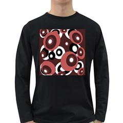 Decorative Pattern Long Sleeve Dark T Shirts by Valentinaart