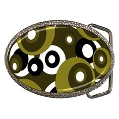 Green Pattern Belt Buckles by Valentinaart