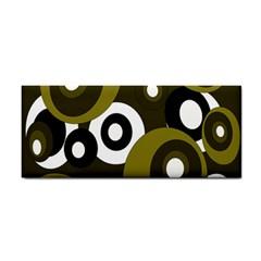 Green Pattern Hand Towel by Valentinaart