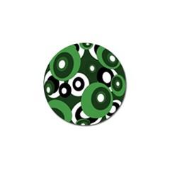 Green pattern Golf Ball Marker (4 pack) by Valentinaart