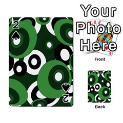 Green Pattern Playing Cards 54 Designs  by Valentinaart