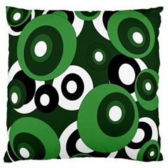 Green Pattern Large Flano Cushion Case (two Sides) by Valentinaart