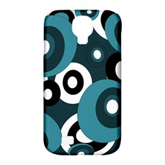 Blue Pattern Samsung Galaxy S4 Classic Hardshell Case (pc+silicone) by Valentinaart