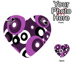 Purple Pattern Playing Cards 54 (heart)  by Valentinaart