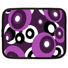 Purple Pattern Netbook Case (xxl)  by Valentinaart