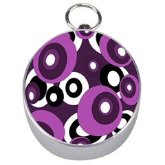 Purple Pattern Silver Compasses by Valentinaart