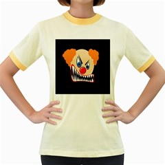 Evil clown Women s Fitted Ringer T-Shirts