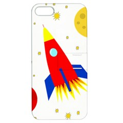 Transparent Spaceship Apple Iphone 5 Hardshell Case With Stand by Valentinaart