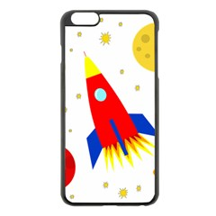 Transparent Spaceship Apple Iphone 6 Plus/6s Plus Black Enamel Case by Valentinaart