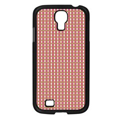 Mod Pink Green Pattern Samsung Galaxy S4 I9500/ I9505 Case (Black) by BrightVibesDesign