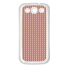 Mod Pink Green Pattern Samsung Galaxy S3 Back Case (white) by BrightVibesDesign