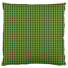 Mod Green Orange Pattern Standard Flano Cushion Case (One Side) by BrightVibesDesign