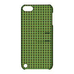 Mod Green Orange Pattern Apple Ipod Touch 5 Hardshell Case With Stand by BrightVibesDesign
