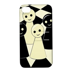 Chess Pieces Apple Iphone 4/4s Hardshell Case With Stand by Valentinaart