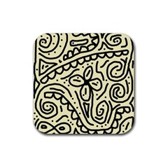 Artistic abstraction Rubber Square Coaster (4 pack)  by Valentinaart