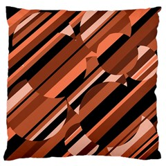 Orange Pattern Large Flano Cushion Case (two Sides) by Valentinaart